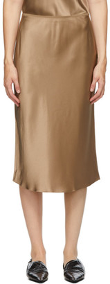 Joseph Taupe Isaak Silk Skirt
