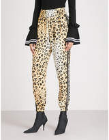 KENDALL + KYLIE KENDALL & KYLIE Leopard-print relaxed-fit satin jogging bottoms