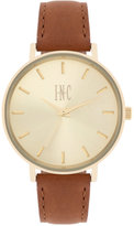 INC International Concepts Women's Tan Leather Strap Watch 36mm IN005G, Only at Macy's