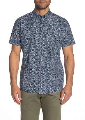JB Britches Elley Floral Short Sleeve Regular Fit Shirt
