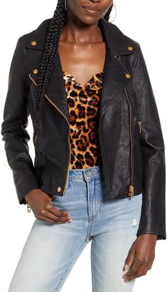 Blank NYC Lifechanger Faux Leather Moto Jacket