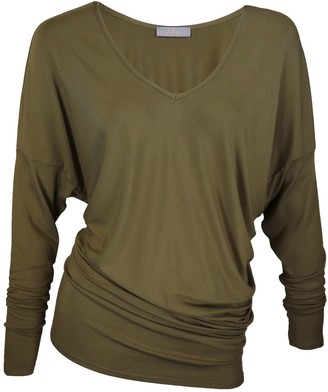 Me & Thee Evil Twin Olive Bamboo V Neck Top