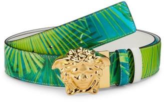 Versace Medusa Palazzo Jungle-Print Reversible Belt