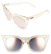 Quay Women's Harper 53Mm Cat Eye Sunglasses - Gold / Gold Mirror