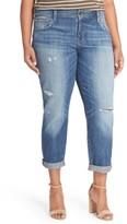 Lucky Brand Plus Size Women's Reese Distressed Boyfriend Jeans