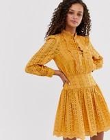Asos Design DESIGN broderie mini tea dress