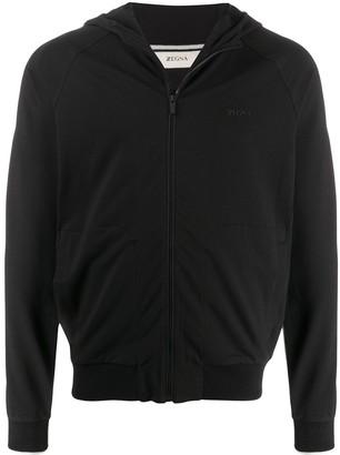 Ermenegildo Zegna Long Sleeve Zip Up Sweater
