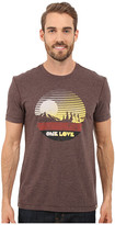 Life is Good One Love Sunset Circle Cool Tee