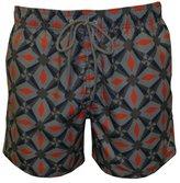 Ted Baker Oversized Geo Print Men's Swim Shorts, Navy/Orange