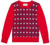 Gucci Children's animal jacquard merino sweater