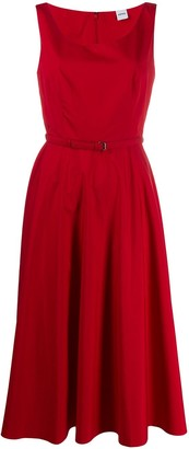 Aspesi belted fit-and-flare dress