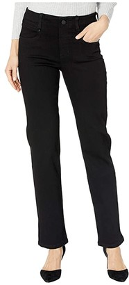 Liverpool Gia Glider/Revolutionary Pull-On Straight Jeans in Black Rinse (Black Rinse) Women's Jeans
