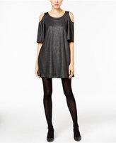 ECI Cold-Shoulder Shift Dress