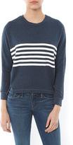 Sundry Dolman Stripes Sweatshirt
