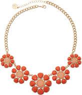 Liz Claiborne Gold-Tone Orange Flower Necklace