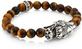 King Baby Studio New Classics Sterling Silver & Brown Tiger Eye Bracelet