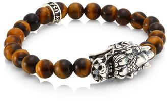 King Baby Studio New Classics Sterling Silver & Brown Tiger Eye Bracelet