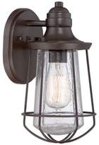Quoizel Marine Outdoor Small Wall Lantern in Weathered Bronze