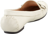 Kate Spade Willie Tumbled Leather Loafer, Cream