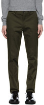 Ps By Paul Smith Green Slim Chinos