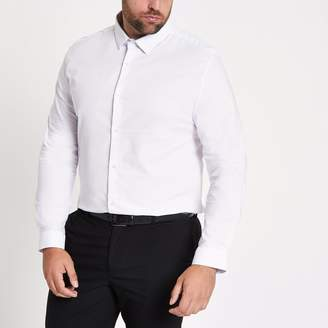 River Island Mens Big and Tall White long sleeve shirt