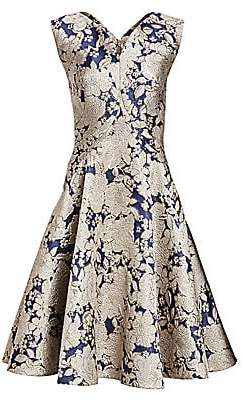 Zac Posen Women's Metallic Jacquard Cocktail Dress