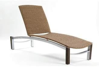 Les Jardins Dripper Chaise Lounge Les Jardins Cushion Color: Hemp Wicker