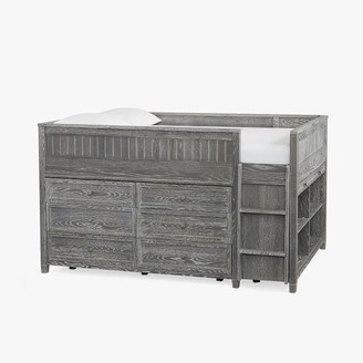 Pottery Barn Teen Beadboard Low Loft Bed
