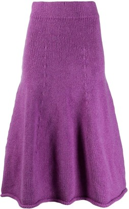 Christian Wijnants Kuna knitted full skirt