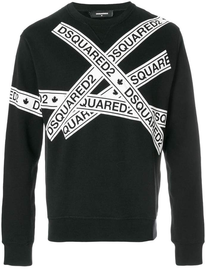 DSQUARED2 logo tape print sweatshirt