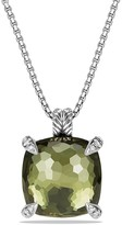 David Yurman Ch'telaine Pendant with Green Orchid and Diamonds