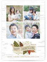 Minted Birch Thanksgiving Banner Thanksgiving Cards