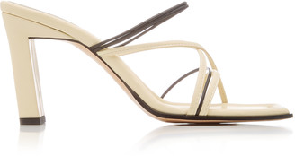 Wandler Joanna Two-Tone Leather Sandals