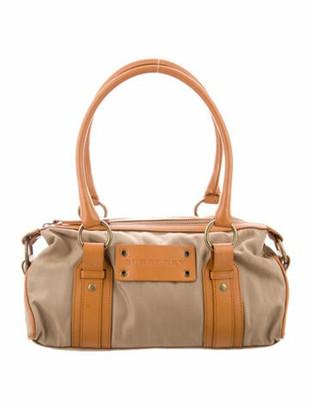 Burberry Leather-Trimmed Nylon Shoulder Bag Gold