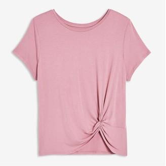 Joe Fresh Women+ Twist Detail Sleep Tee, Dusty Pink (Size 1X)