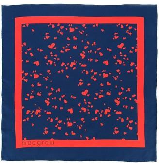 macgraw Heart Print Neck Tie