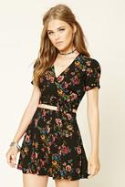 Forever 21 FOREVER 21+ Pleated Floral Mini Skirt