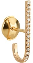 Elise Dray Diamond & pink-gold Mini Barre earring