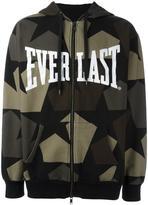 Ports 1961 camouflage print zipped hoodie