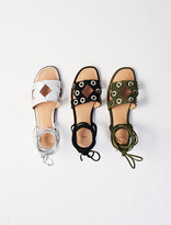 Maje Suede tie sandals with eyelets