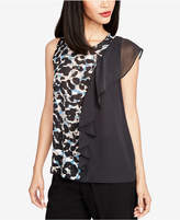 Rachel Roy Printed Colorblocked Ruffle Tank Top, Created for Macy's