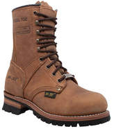 """AdTec Women's 2426 9"""" Steel Toe Logger Boot - Brown Leather Boots"""