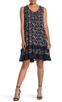 Papillon Ditsy Floral Print Ruffle Dress