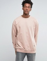 Religion Oversized Sweat with Drop Shoulder Detail
