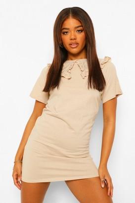 boohoo Oversized Frill Collar Shift Dress