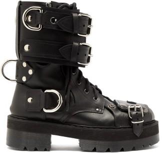 Vetements Bondage Buckled Leather Boots - Black