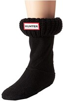 Hunter Half Cardigan Boot Sock (Toddler/Little Kid/Big Kid) (Black) Kids Shoes