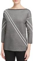 Lafayette 148 New York Stripe Jacquard Sweater