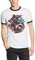 Marvel Men's Captain America Civil War Painted Leaders T-Shirt