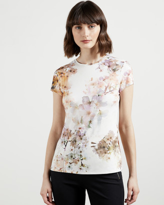 Ted Baker AYLEYC Vanilla fitted t-shirt